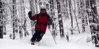 Jazda w lesie - krótkie skręty telemarkowe