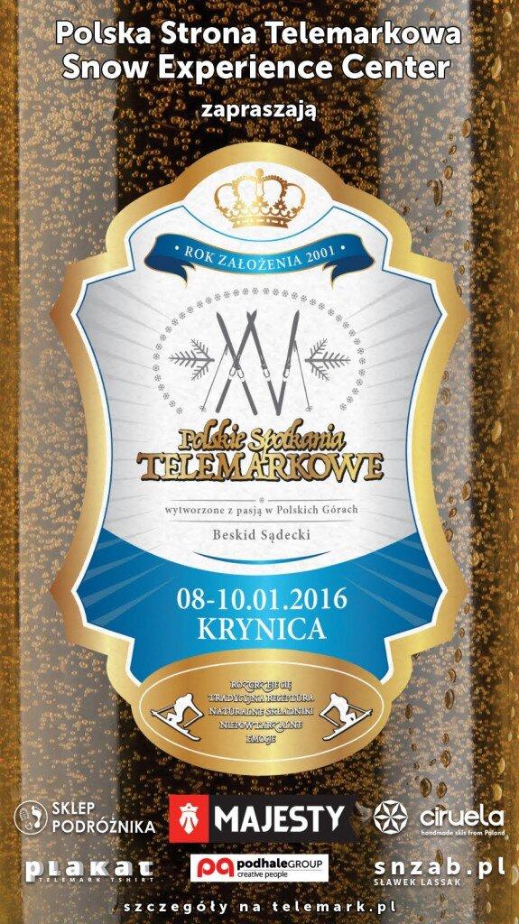 XV Polskie Spotkanie Telemarkowe - plakat